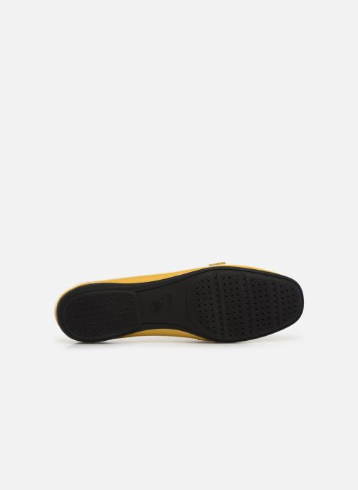 Loafers Geox D ANNYTAH MOC A D92BMA Yellow view from above