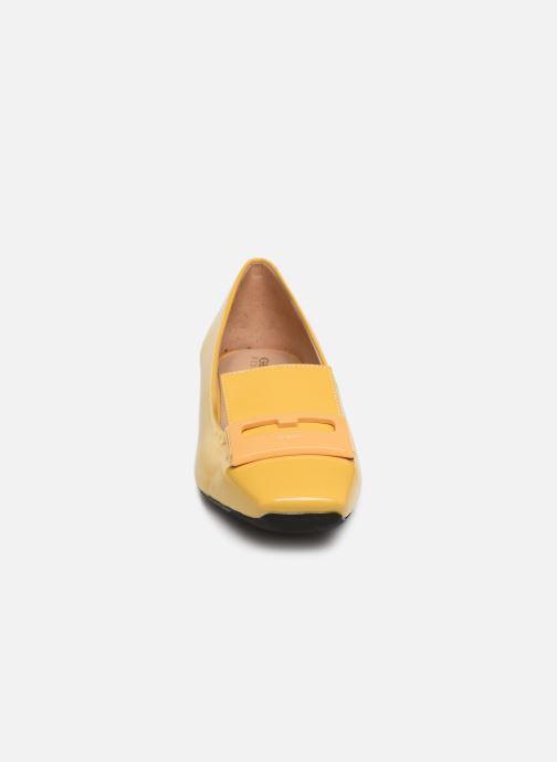 Mocassins Geox D VIVYANNE A D849MA Jaune vue portées chaussures