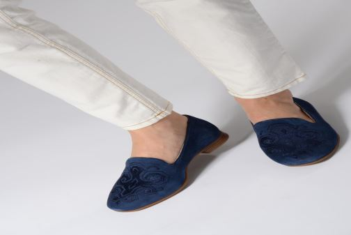 Loafers Geox D MARYLINA B D928PB Blue view from underneath / model view