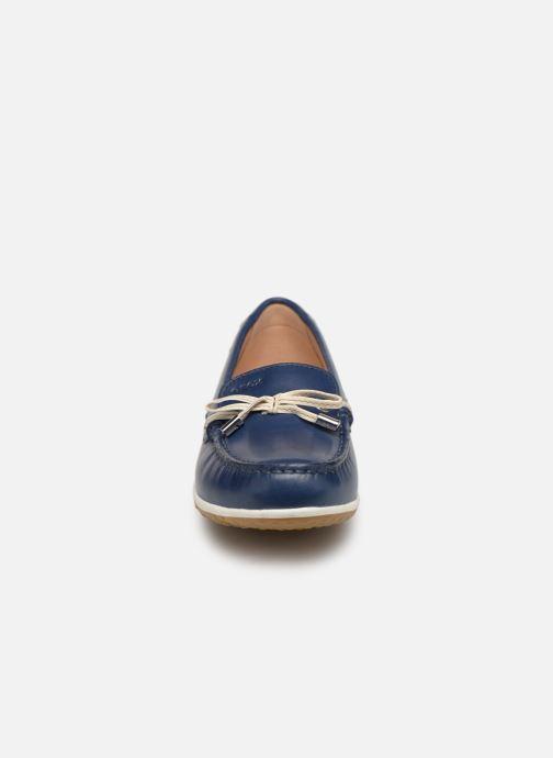 Mocassins Geox D VEGA MOC B D92DNB Bleu vue portées chaussures