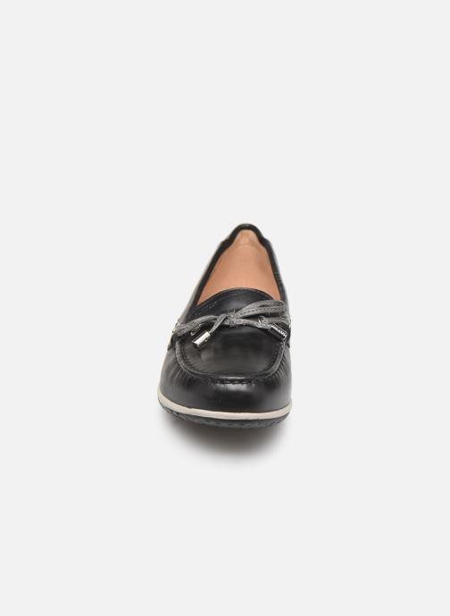 Mocassins Geox D VEGA MOC B D92DNB Noir vue portées chaussures