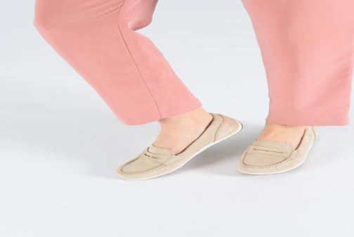 Loafers Geox D VEGA MOC A D92DNA Pink view from underneath / model view