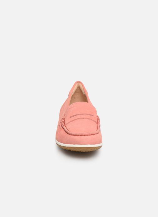 Mocassins Geox D VEGA MOC A D92DNA Rose vue portées chaussures