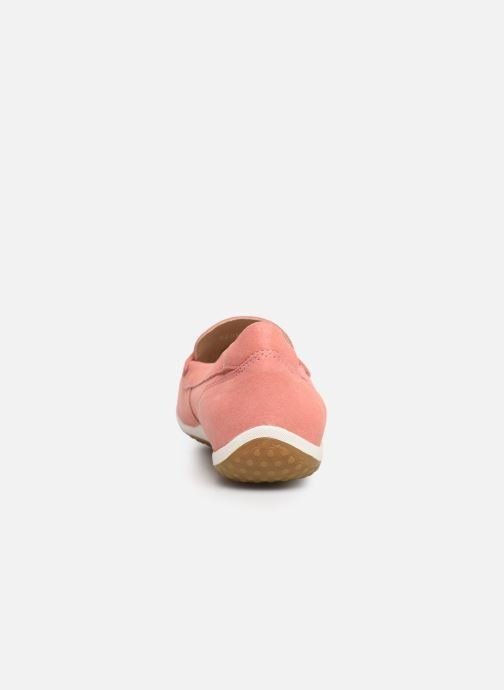 Loafers Geox D VEGA MOC A D92DNA Pink view from the right