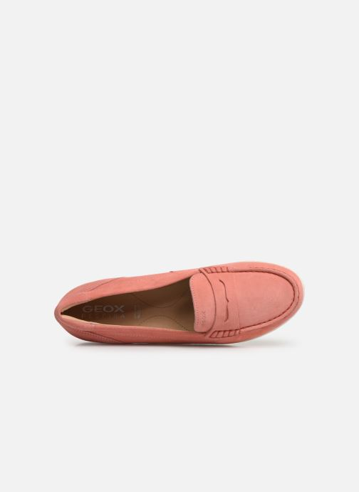 Loafers Geox D VEGA MOC A D92DNA Pink view from the left