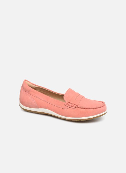 Loafers Geox D VEGA MOC A D92DNA Pink detailed view/ Pair view