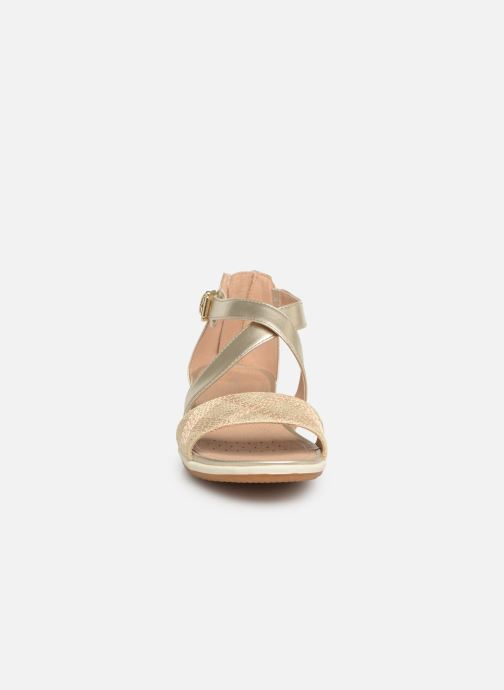 Sandals Geox D SAND VEGA F D92R6F Bronze and Gold model view
