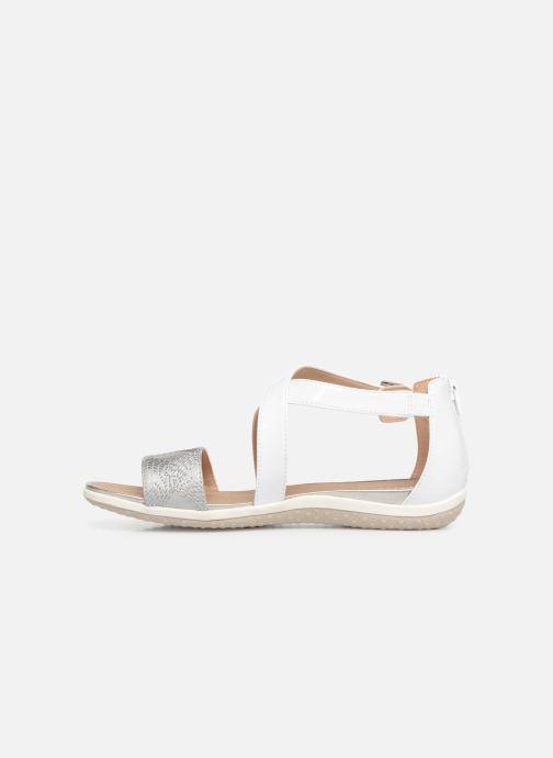 Sandales et nu-pieds Geox D SAND VEGA F D92R6F Blanc vue face