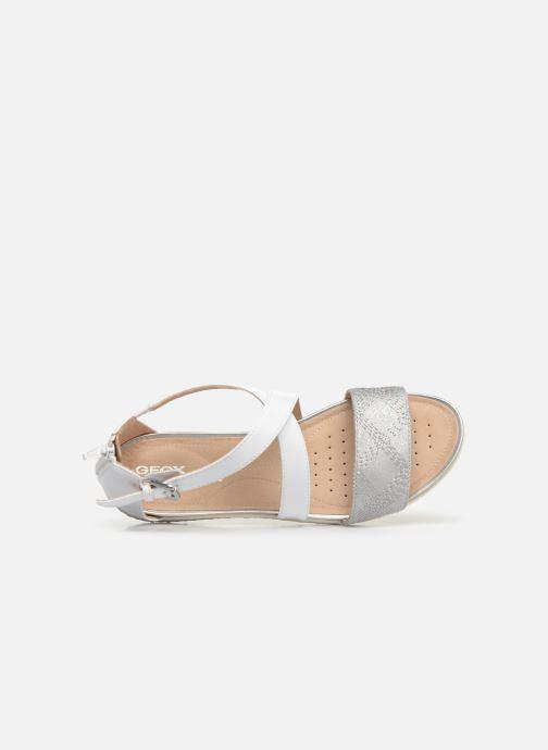 Sandales et nu-pieds Geox D SAND VEGA F D92R6F Blanc vue gauche