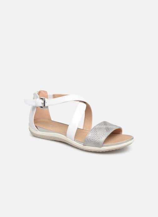 Sandales et nu-pieds Geox D SAND VEGA F D92R6F Blanc vue détail/paire