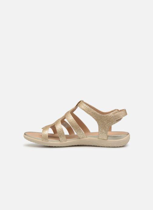 Sandales et nu-pieds Geox D SAND VEGA A D72R6A Or et bronze vue face