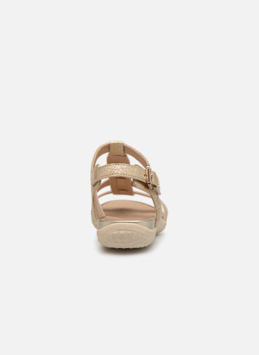 Sandales et nu-pieds Geox D SAND VEGA A D72R6A Or et bronze vue droite