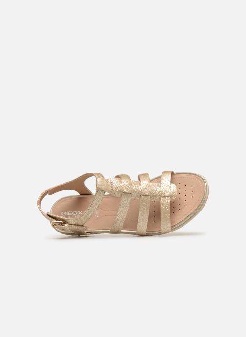 Sandales et nu-pieds Geox D SAND VEGA A D72R6A Or et bronze vue gauche