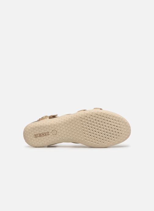 Sandales et nu-pieds Geox D SAND VEGA A D72R6A Or et bronze vue haut