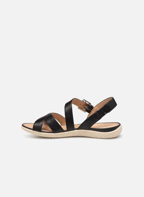 Sandales et nu-pieds Geox D SAND VEGA E D92R6E Noir vue face