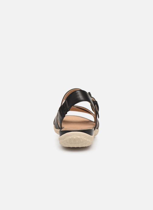 Sandales et nu-pieds Geox D SAND VEGA E D92R6E Noir vue droite