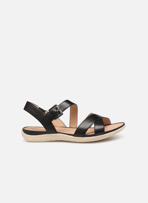 Sandales et nu-pieds Geox D SAND VEGA E D92R6E Noir vue derrière