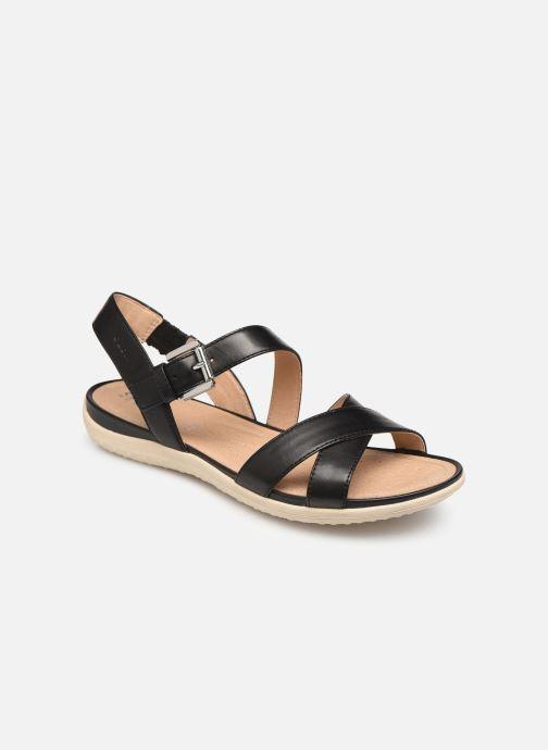 Sandales et nu-pieds Geox D SAND VEGA E D92R6E Noir vue détail/paire