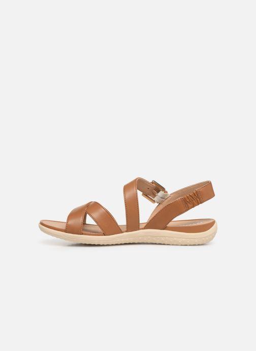 Sandals Geox D SAND VEGA E D92R6E Brown front view