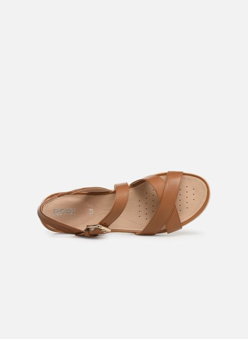 Sandals Geox D SAND VEGA E D92R6E Brown view from the left
