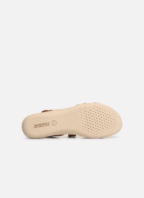 Sandales et nu-pieds Geox D SAND VEGA E D92R6E Marron vue haut