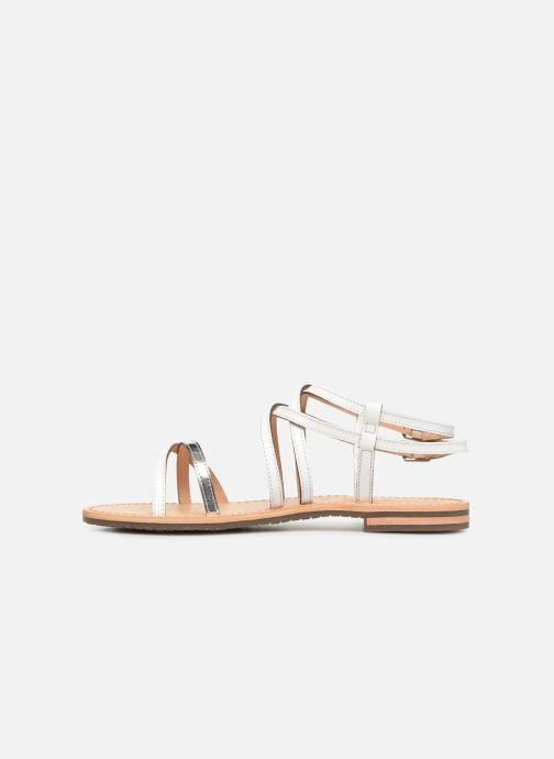 Sandales et nu-pieds Geox D SOZY L D922CL Blanc vue face