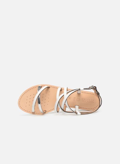 Sandales et nu-pieds Geox D SOZY L D922CL Blanc vue gauche