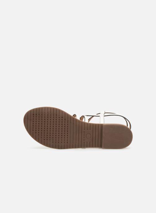 Sandales et nu-pieds Geox D SOZY L D922CL Blanc vue haut