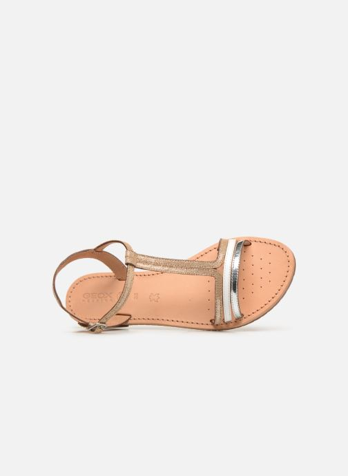 Sandals Geox D SOZY E D922CE Beige view from the left