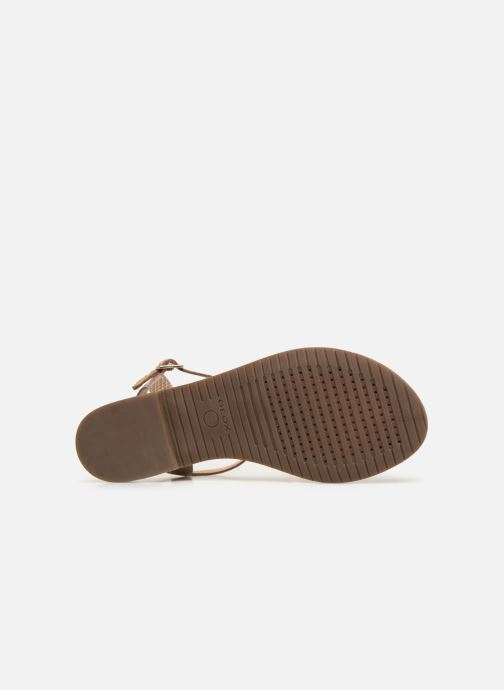 Sandals Geox D SOZY E D922CE Beige view from above