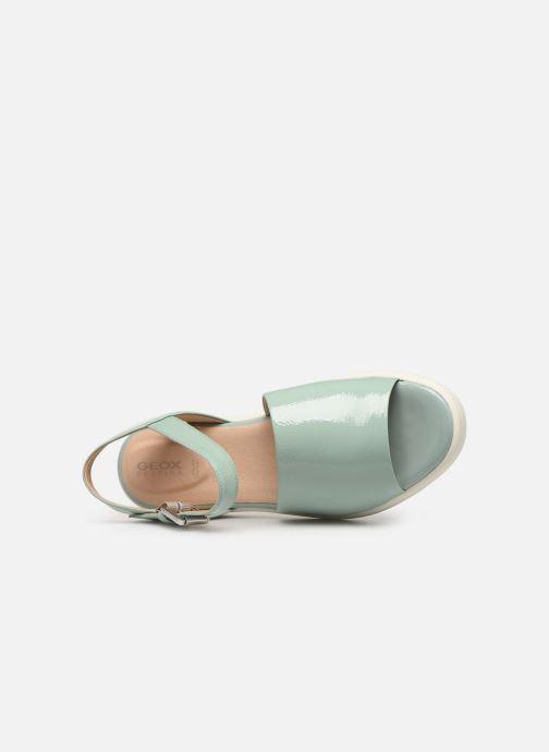 Sandales et nu-pieds Geox D WIMBLEY A D92DPA Vert vue gauche