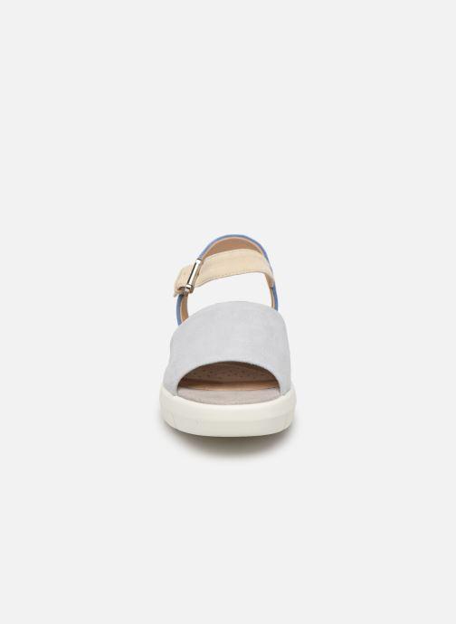 Sandales et nu-pieds Geox D WIMBLEY A D92DPA Bleu vue portées chaussures