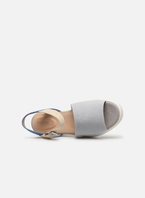Sandales et nu-pieds Geox D WIMBLEY A D92DPA Bleu vue gauche