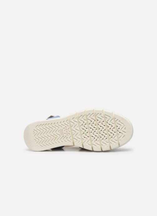 Sandales et nu-pieds Geox D WIMBLEY A D92DPA Bleu vue haut