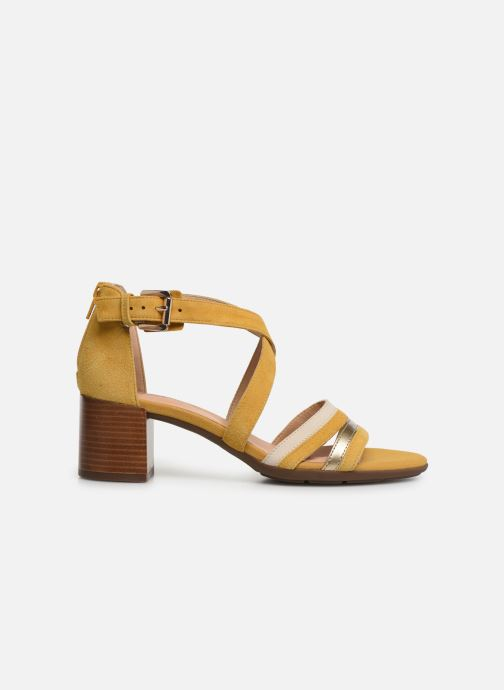 Sandales et nu-pieds Geox D MARYKRAMMEN MID SAN E D92CWE Jaune vue derrière