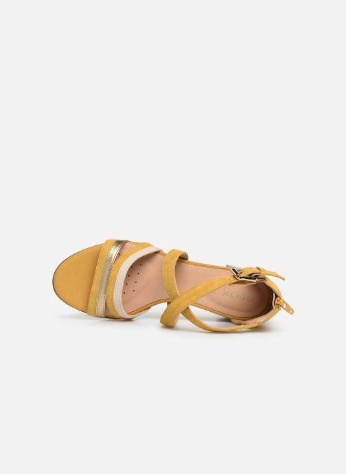 Sandales et nu-pieds Geox D MARYKRAMMEN MID SAN E D92CWE Jaune vue gauche