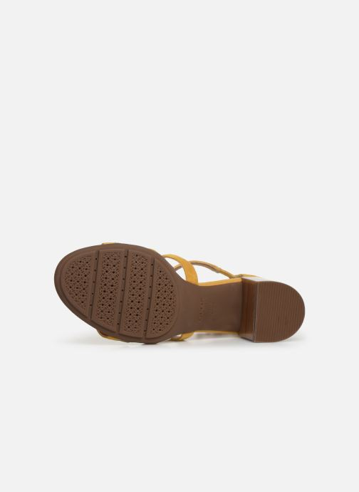 Sandales et nu-pieds Geox D MARYKRAMMEN MID SAN E D92CWE Jaune vue haut