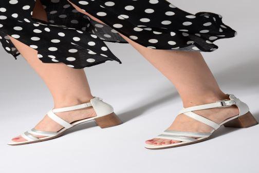Sandales et nu-pieds Geox D MARYKRAMMEN MID SAN E D92CWE Blanc vue bas / vue portée sac