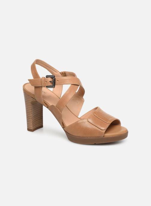Sandaler Geox D ANNYA HIGH B D92CLB Brun detaljeret billede af skoene