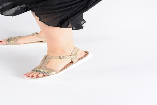 Sandals Geox D JEARL B D92DRB Beige view from underneath / model view