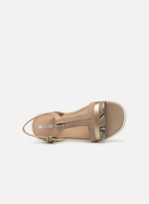 Sandals Geox D JEARL B D92DRB Beige view from the left
