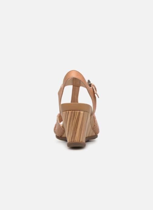 Sandales et nu-pieds Geox D DOROTHEA E D928TE Marron vue droite