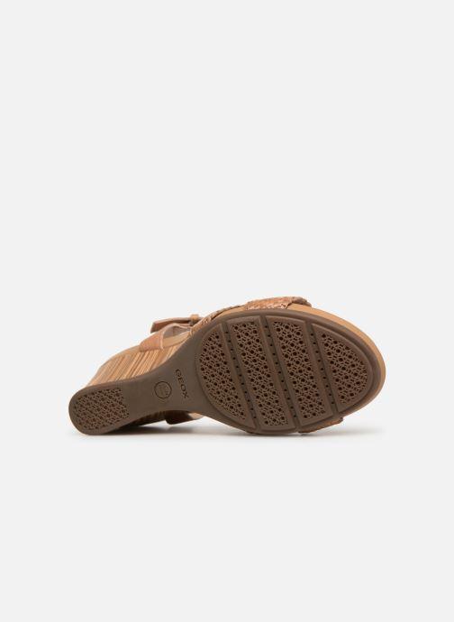 Sandales et nu-pieds Geox D DOROTHEA E D928TE Marron vue haut