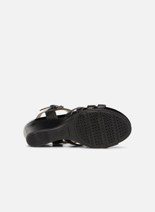 Sandales et nu-pieds Geox D DOROTHA C D928TC Noir vue haut