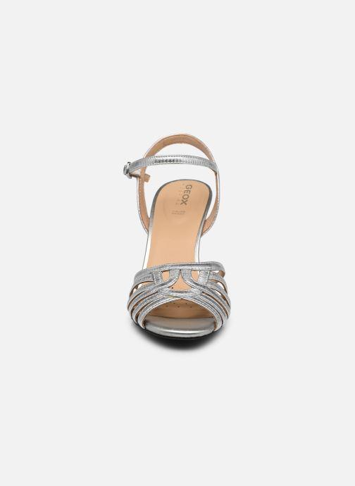 Sandales et nu-pieds Geox D ELISANGEL D D92CVD Argent vue portées chaussures