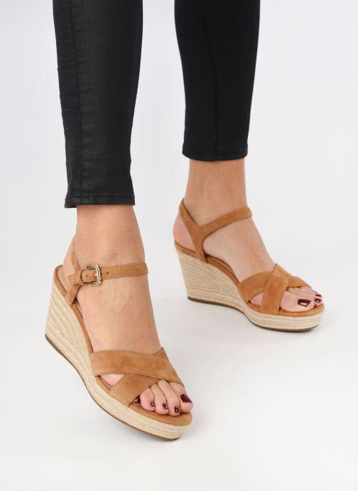 Sandali e scarpe aperte Geox D SOLEIL A D92N7A Marrone immagine dal basso