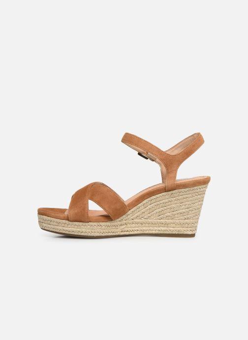 Sandales et nu-pieds Geox D SOLEIL A D92N7A Marron vue face