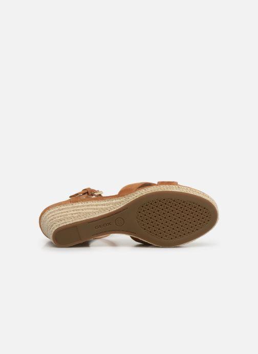 Sandales et nu-pieds Geox D SOLEIL A D92N7A Marron vue haut