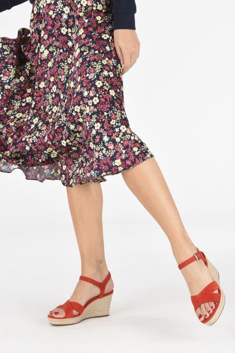 Sandali e scarpe aperte Geox D SOLEIL A D92N7A Rosso immagine dal basso