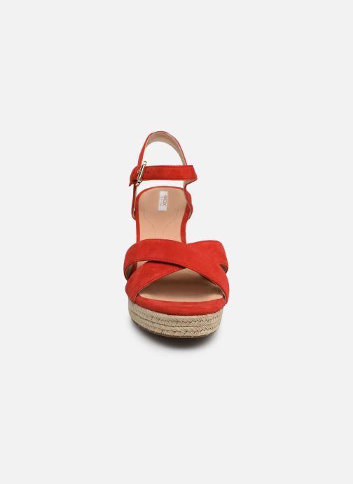 Sandales et nu-pieds Geox D SOLEIL A D92N7A Rouge vue portées chaussures